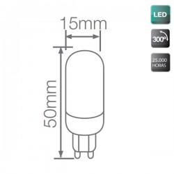 Bombillas LED G9 3,5W 250Lm 6000K fría