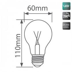 Bombillas estándar LED E27 6W 600 Lm 360º cálida