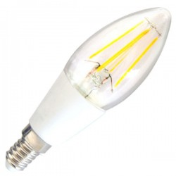Bombillas Vela LED E14 4W 400 Lm 290º cálida