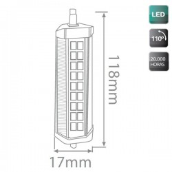 Lámpara LED lineal R7s 6W 118mm. 500 lm cálida