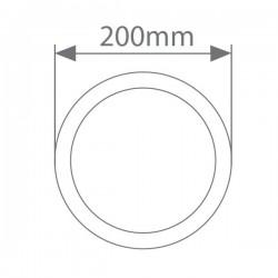 Aplique LED para Exterior 7W 450lm 6000K Redondo