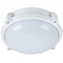Aplique LED para Exterior 12W 700lm 6000K Redondo