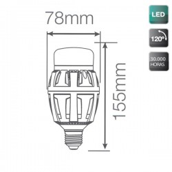 Bombillas LED E27 40W 4000 Lumens 5000K