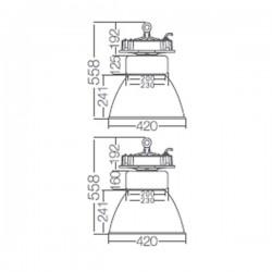 Campana Industrial LED 120W 10800 Lumens 5500K 60º