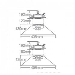 Campana Industrial LED 120W 10800 Lumens 5500K 120º