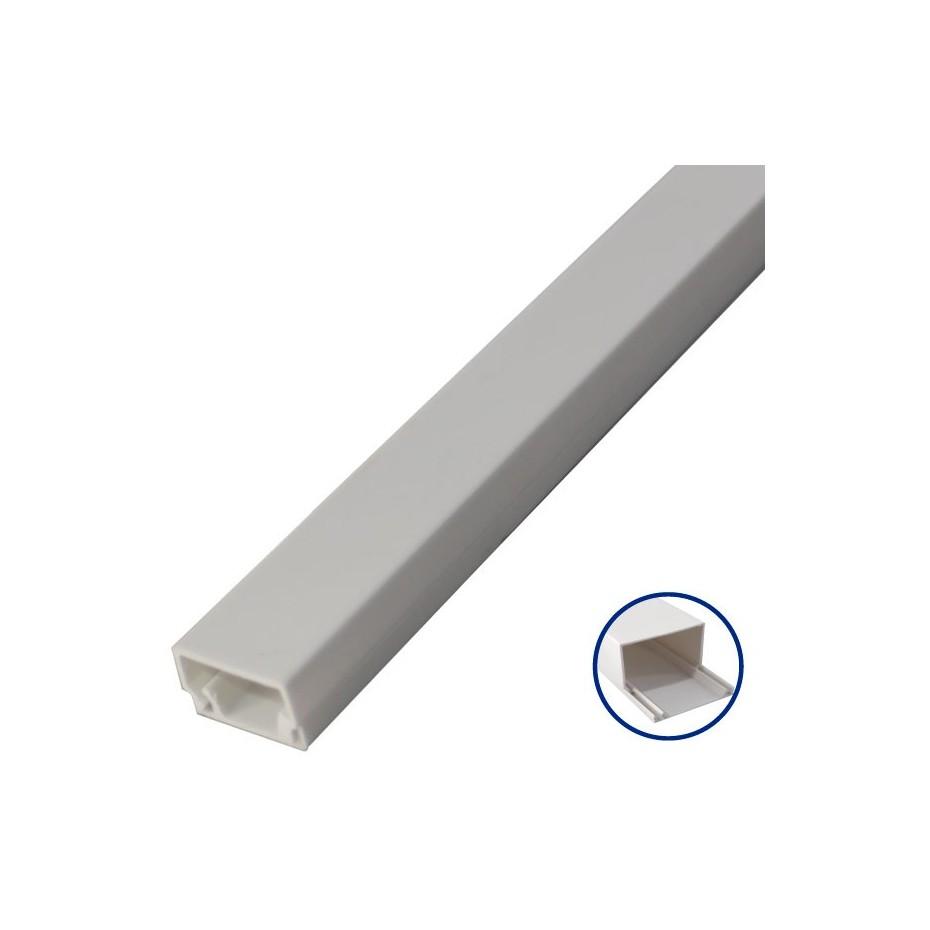 Mini canaleta adhesiva pvc de 2 metros 16 x 16mm - Canaleta de pvc ...
