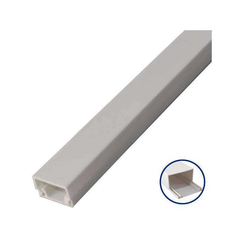 Mini canaleta adhesiva pvc de 2 metros 16 x 25mm - Canaleta de pvc ...