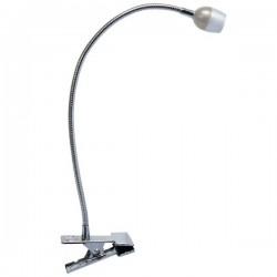 Lámparas LED con pinza gris