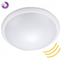 Plafón LED con sensor 1100lm 6000K IP44