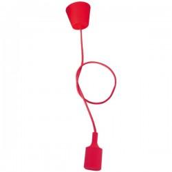 Portalámpara de Silicona Rojo