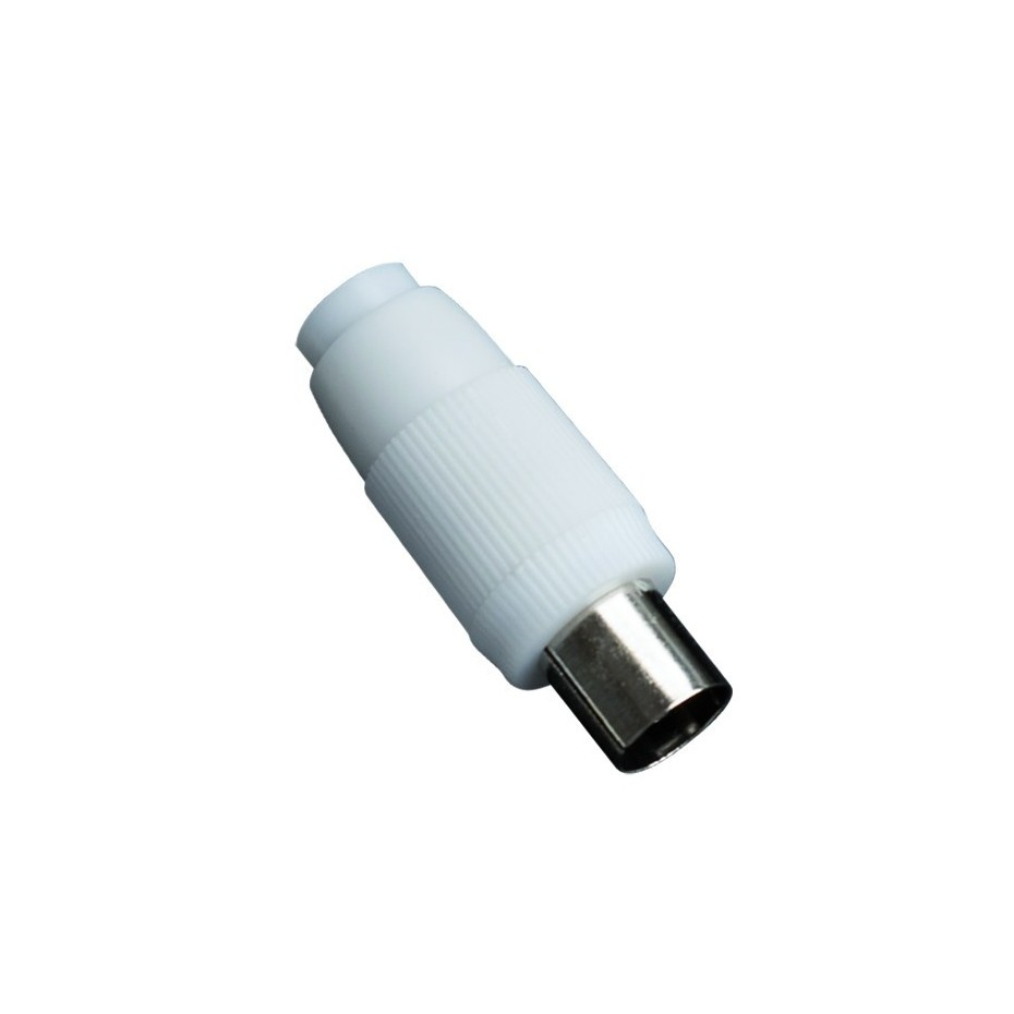 Conector TV recto hembra de 9,5 mm.