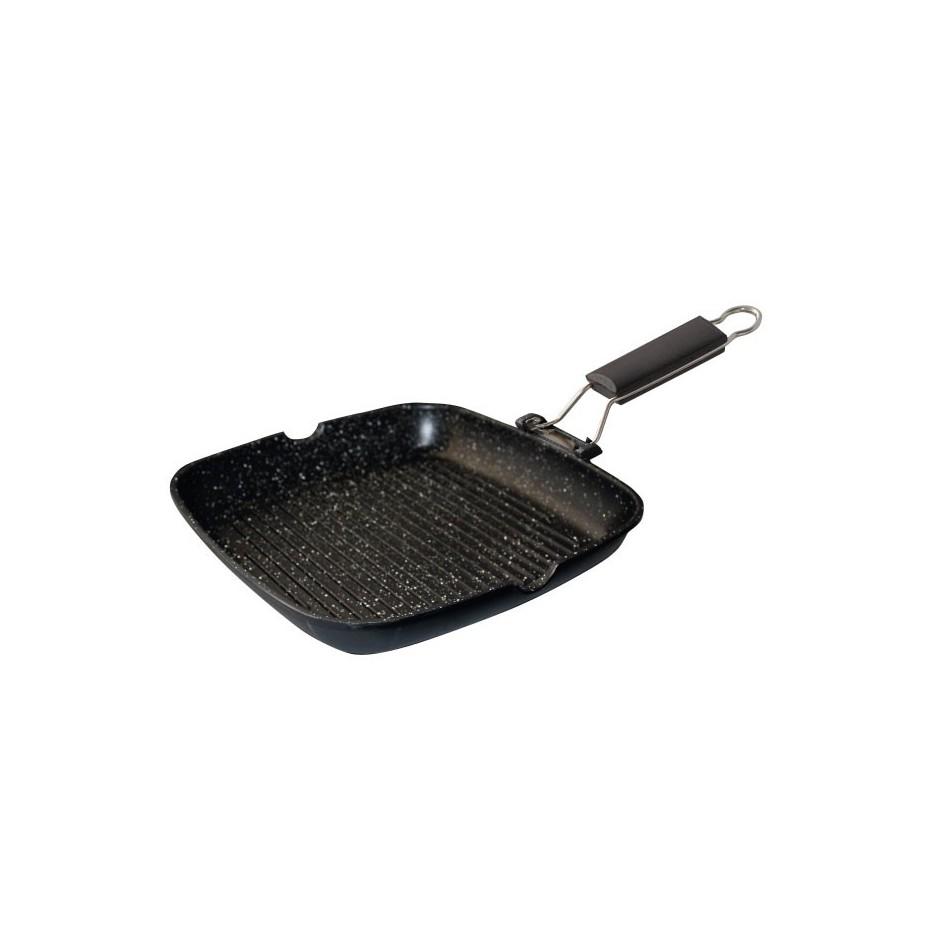 Sartén grill de inducción de 3 mm. de grosor, de 240x240 mm.