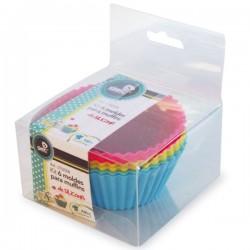 Kit de 6 moldes para Muffins de silicona