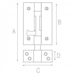 Pasador cerrojo con orificio para candado 106mm