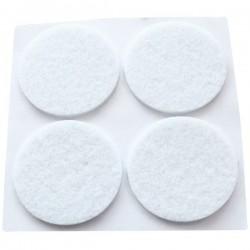 Set 20 Fieltros adhesivos protectores blancos Ø16mm