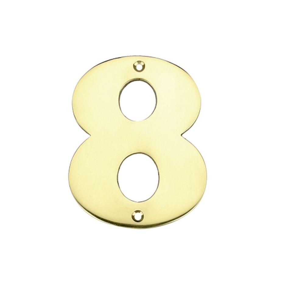 """Numero puerta en latón pulido """"0"""""""