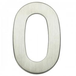 "Número puerta níquel satín ""0"""