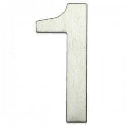 "Número puerta níquel satín ""1"""
