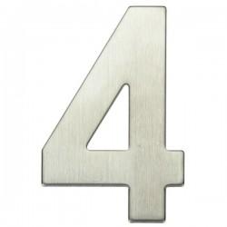 "Número puerta níquel satín ""4"""