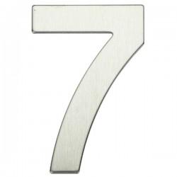 "Número puerta níquel satín ""7"""