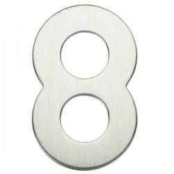 "Número puerta níquel satín ""8"""