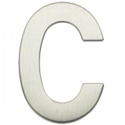 """Letra níquel satín """"C"""""""