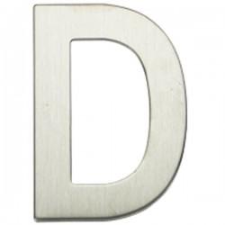 """Letra níquel satín """"D"""""""