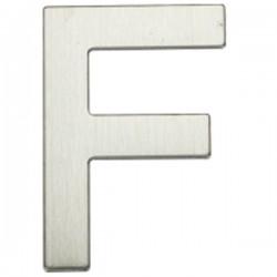 """Letra níquel satín """"F"""""""