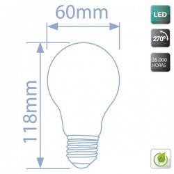 bombillas Regulables LED E27 11W 806Lm 270º fría