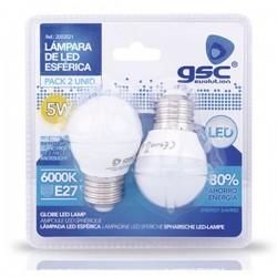 Pack 2 Bombillas LED 5W 420lm E27 6000K fría