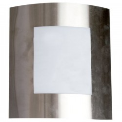 Aplique de pared de acero inoxidable IP44 E27 Niquel Satin
