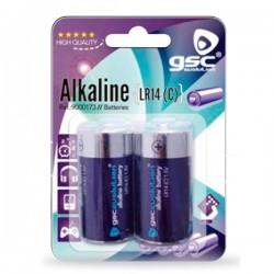 Caja 12 blisters de 2 uds de pilas alkalinas LR-14 (C) GSC