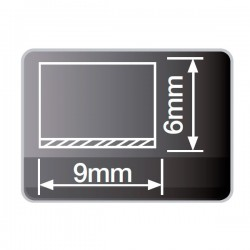 Burlete con espuma adhesivo de 9 mm