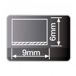 Burlete con espuma adhesivo de 12 mm