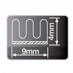 Burlete de caucho adhesivo de 9 mm Marrón