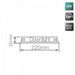 Downlight LED de Superficie Blanco 24W 6000K 2300 Lm Redondo