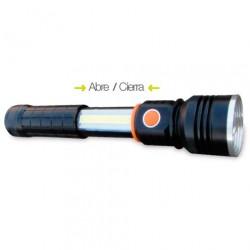 Linterna de aluminio LED 10W 800 lm + 3W 250 lm recargable