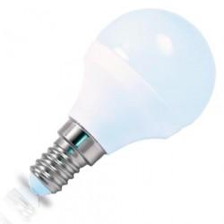 Caja 10 bombillas esféricas LED ceramica 4W E14 3000K cálida