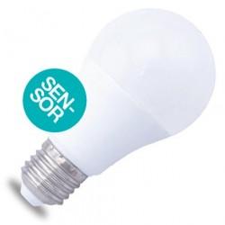Lámparas LED Estándar E27 Sensor Presencia de 10W 806 Lm 160º Cálida