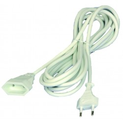 Prolongador de cable eléctrico blanco