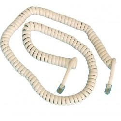 Conexión tinsel espiral 4P/4C macho a macho, 4,5 metros.