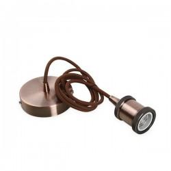Portalamparas colgante 1M aluminio cable cobre