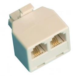 Distribuidor telefonico modular doble, 6P/4C.