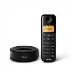 Teléfono inalámbrico Philips 1 base. Negro