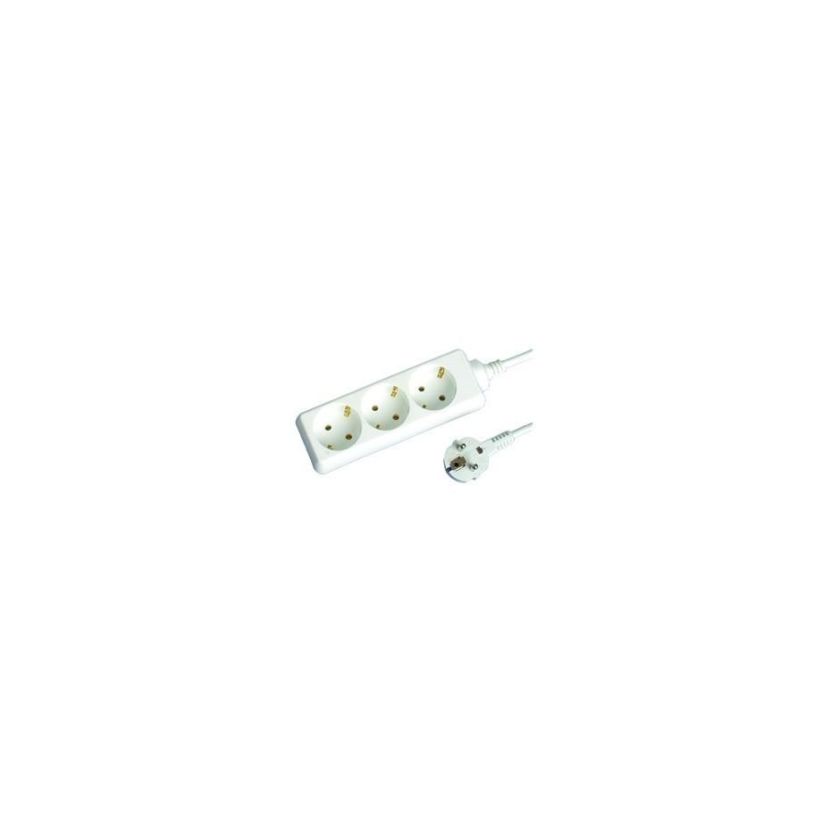 Base múltiple de 3 tomas (3T) con cable eléctrico