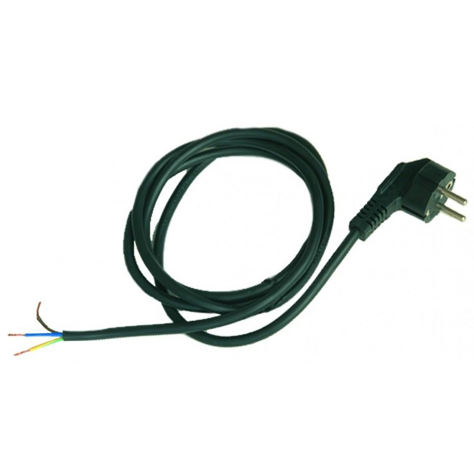 Conexión de cable de neopreno con puntas peladas en un extremo, clavija sucko 10/16A 250V en el otro extremo IP44