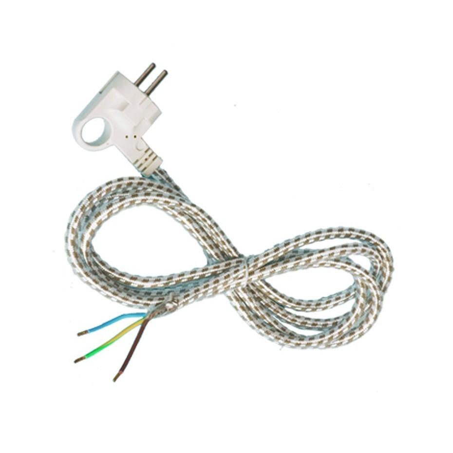 Conexión de cable textil para plancha 10/16A 250V