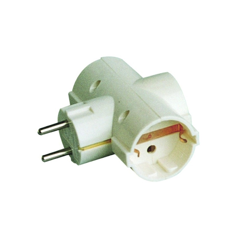 Base múltiple - Adaptador de triple salida 2P con TT lateral