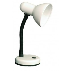 Lámpara Flexo de sobremesa blanca con bombilla de incandescencia