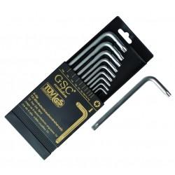 Caja 9 llaves TORX de T10 a T50